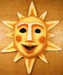 """""""Sol"""" Mask i papier-maché och akrylfärg Privat ägo, 1985"""