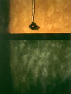 """""""Belysningsknapp"""", olja på duk, 85 cm x 110 cm, 1991"""