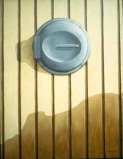 """""""Sopnedkast"""", olja på duk, 70 cm x 100 cm, 1991"""