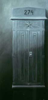 """""""Kopplingsskåp"""", olja på duk, 70 cm x 220 cm, 1991"""