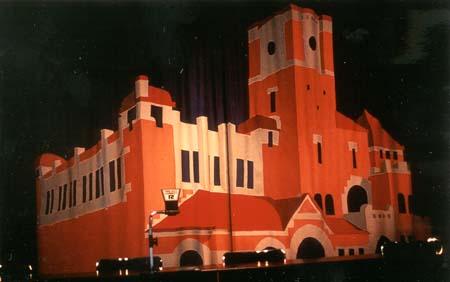 """""""Elyseum"""" Design av ridå ca 3,5 m hög (sydd av PS Decorsnickeri) Elyseum i Göteborg, 1995"""