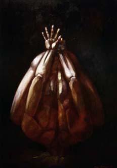 """Struts"", olja på masonit, 84 cm x 120 cm, 1995"
