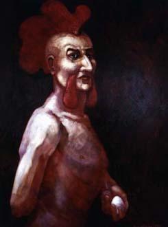 """""""Tupp"""", olja på masonit, 70 cm x 100 cm, 1995"""
