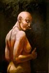 """""""Orm"""", olja på masonit, 70 cm x 100 cm , 1995"""