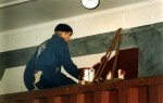"""""""Sjöman"""" del av basutställningen """"1900-talets sjöfart"""" Gjord i papier-maché mm, naturlig storlek Sjöfartsmuseet i Göteborg, 1996"""
