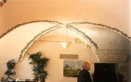 Takdekoration, vinyl på vägg, Ostindiska Krog & Kafé, 1996