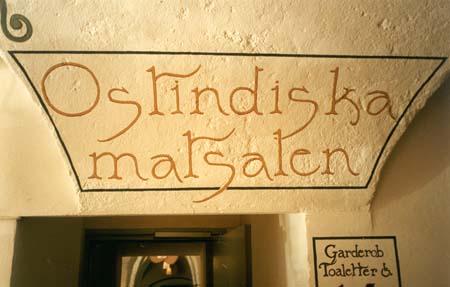 Väggdekoration, vinyl på vägg Ostindiska Krog & Kafé, 1996