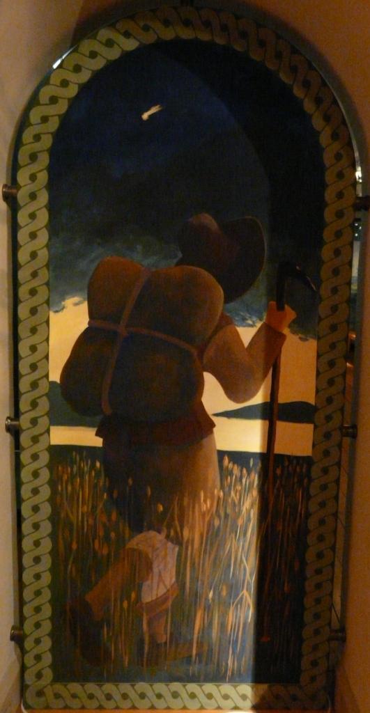 """""""Medeltid"""", olja på masonit, 80 x 220 cm, Göteborgs Stadsmuseum, 1997"""