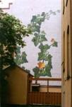 """""""Murgröna"""", Brahegatan 18, Stockholm, 18m hög, fasadmålning, Keim silikatfärg, kund: Försäkringstjänstemännens pensionskassa, 1997"""