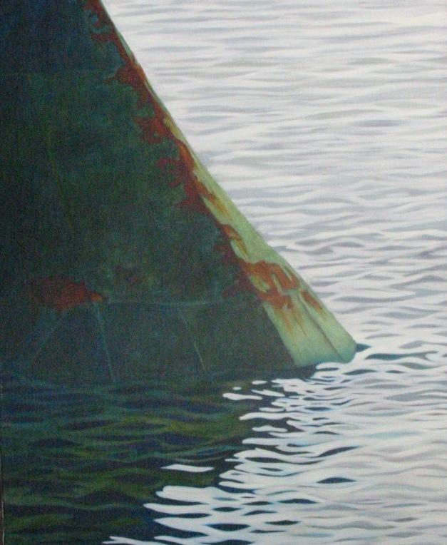 """""""Grön bulb"""", olja på duk, 64 cm x 81 cm, 1998"""
