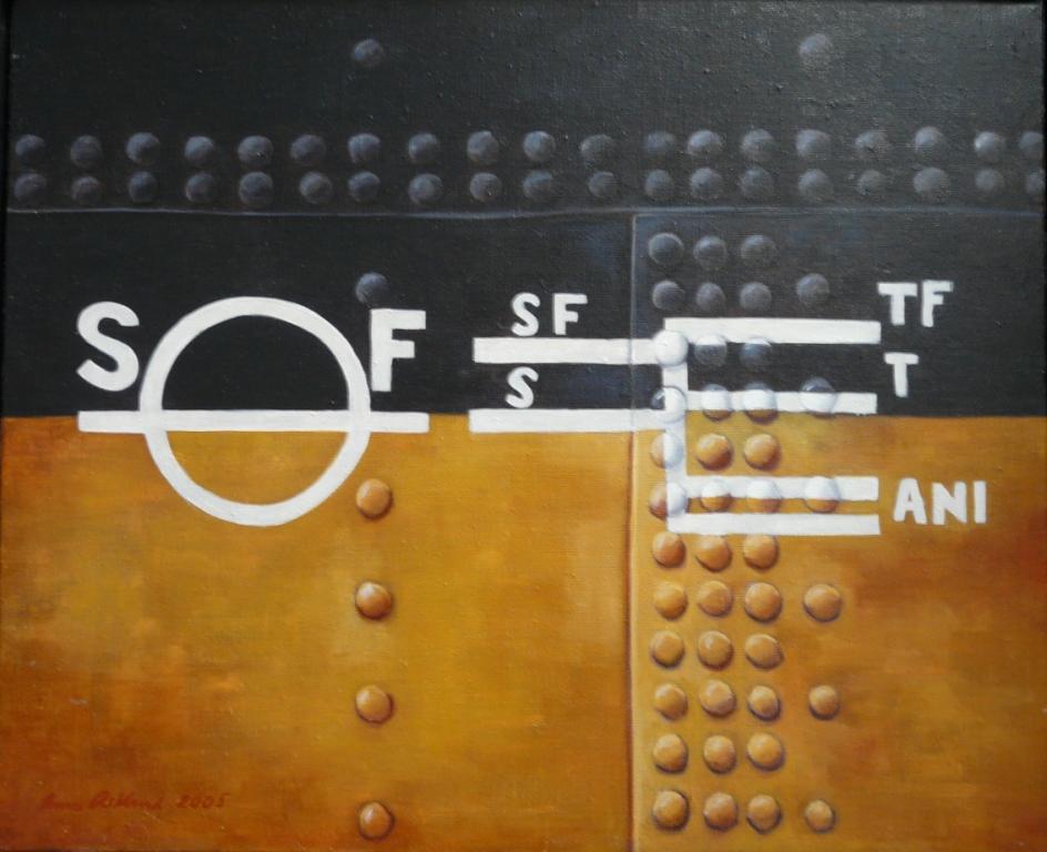 """""""Fryken"""", olja på duk, 60 cm x 73 cm 1998"""