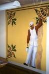 """""""Målare"""", väggmålning Vinyl på vägg, 250 cm x 250 cm Flatås Måleri AB, 1999"""