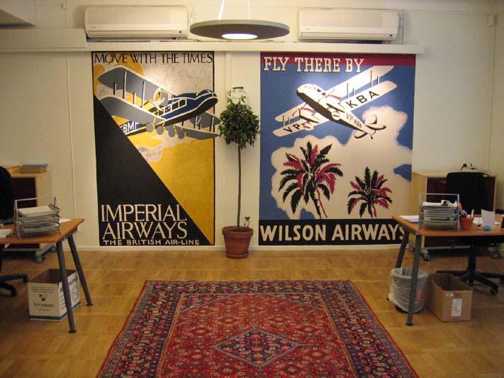 """""""Far & Flyg"""", vinyl på vägg, Stockholm, 2004"""