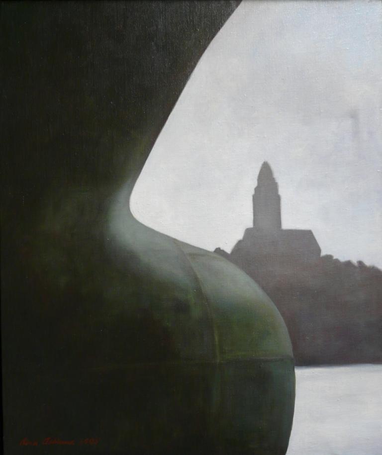 """""""Hemlängtan"""", olja på duk, 54 cm x 65 cm, 2005"""