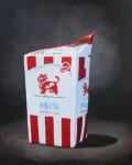 """Rödmjölk"" Olja på duk, 40 cm x 50 cm x 4 cm, 2005"