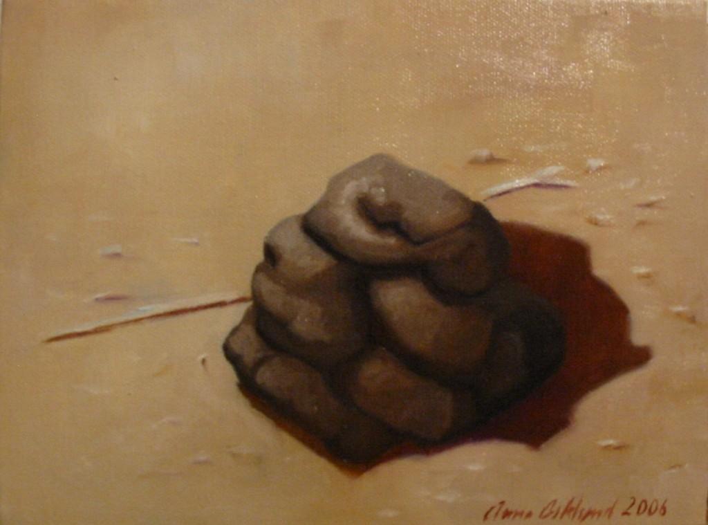 """Exkrement I"", olja på duk, 2006"