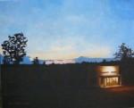 """""""Vårkväll I"""", olja på duk, 2006"""