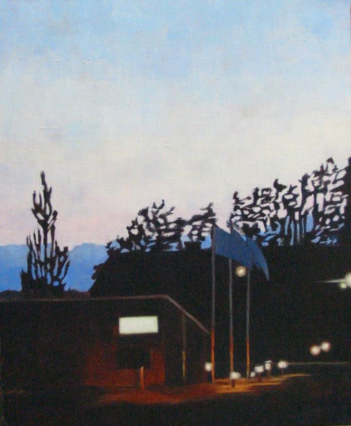 """""""Vårkväll III"""", olja på duk, 2006"""