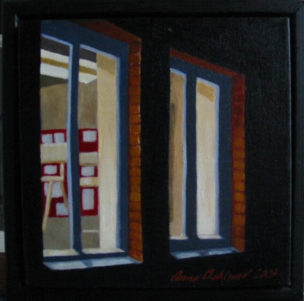 """Altorp 2"", olja på duk, 20 x 20 cm, 2007"