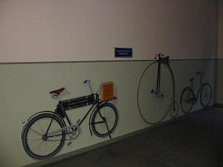 """""""Cyklar"""" vinyl på vägg, Kristinehöjdsgatan 15, Göteborg 2007"""