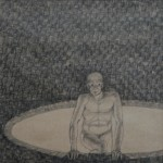 """""""Hopp 2"""", blyerts på papper, 2007"""
