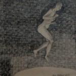 """""""Hopp 3"""", blyerts på papper, 2007"""