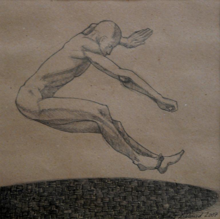 """""""Hopp 4"""", blyerts på papper, 2007"""