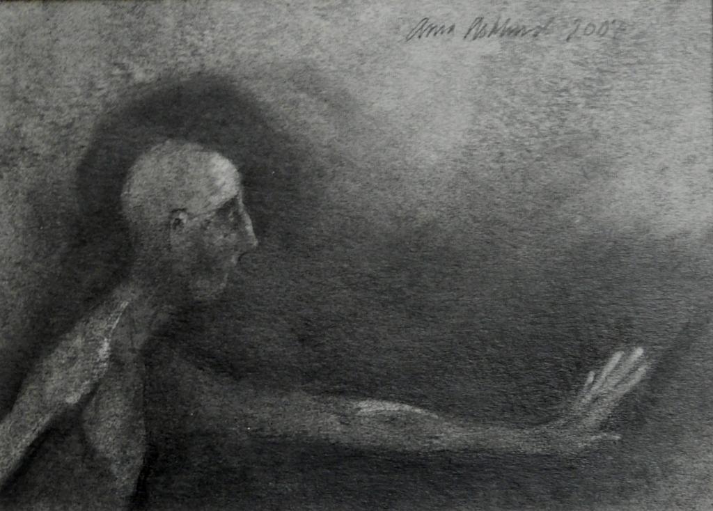 """""""Mörkt"""", blyerts på papper, 2007"""