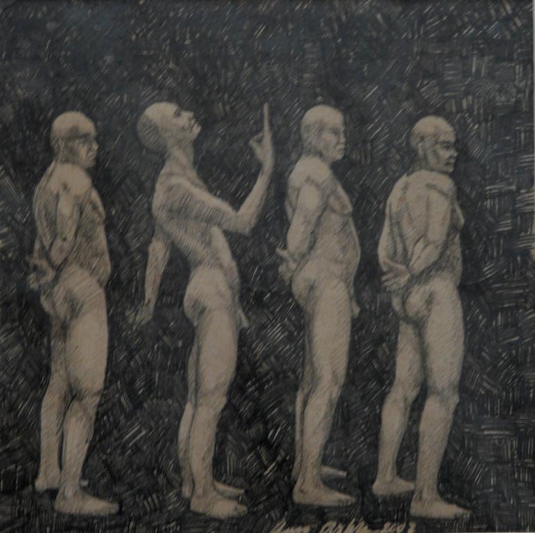 """""""Någon 1"""", blyerts på papper, 2007"""