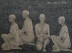 """""""Någon 2"""", blyerts på papper, 2007"""