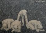 """""""Någon 3"""", blyerts på papper, 2007"""