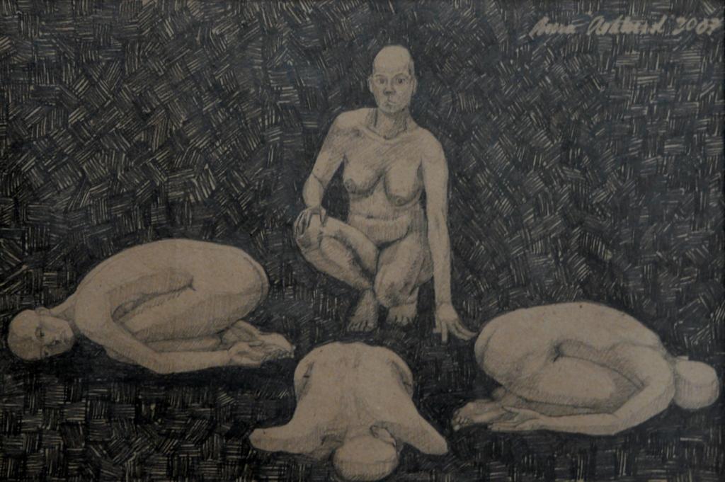 """""""Någon 4"""", blyerts på papper, 2007"""