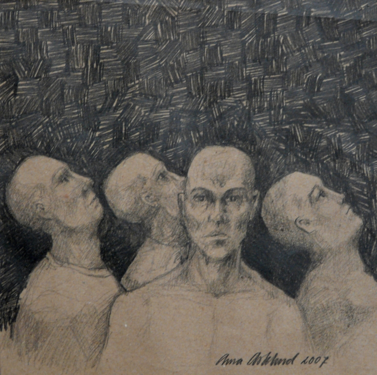 """""""Någon 5"""", blyerts på papper, 2007"""