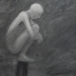 """Pinne 2"", blyerts på papper, 2007"