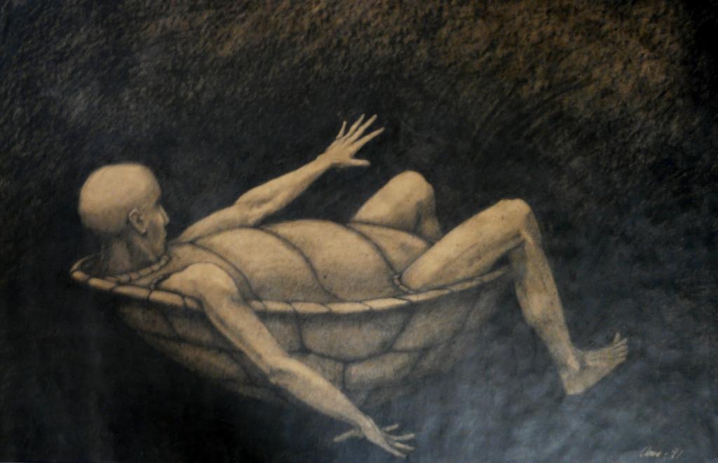 """""""Sköldpadda"""", blyerts på papper, 2007"""