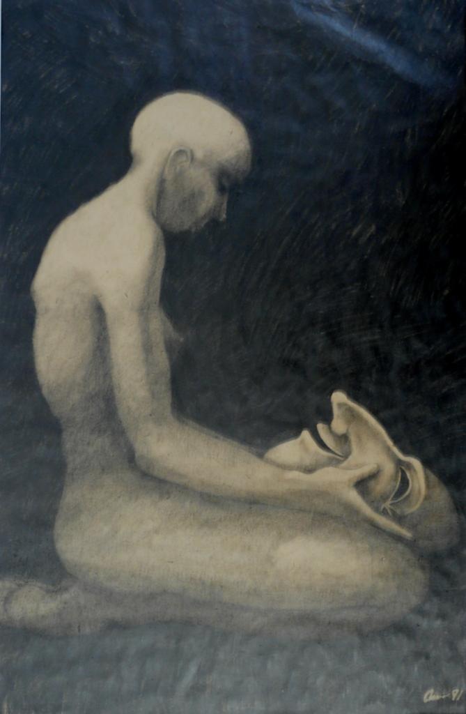 """""""Skenet"""", blyerts på papper, 2007"""