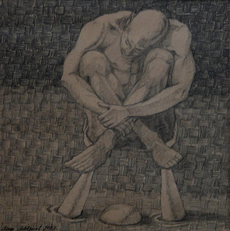 """""""Tillsammans 2"""", blyerts på papper, 2007"""
