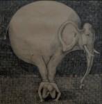 """""""Tungt"""", blyerts på papper, 2007"""