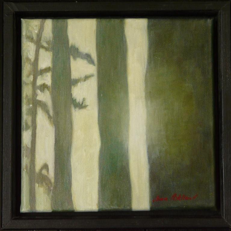 """""""Skogsbryn"""", olja på duk, 20 x 20 cm, 2008"""