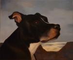 """Bosse hund"", olja på duk, 2009"