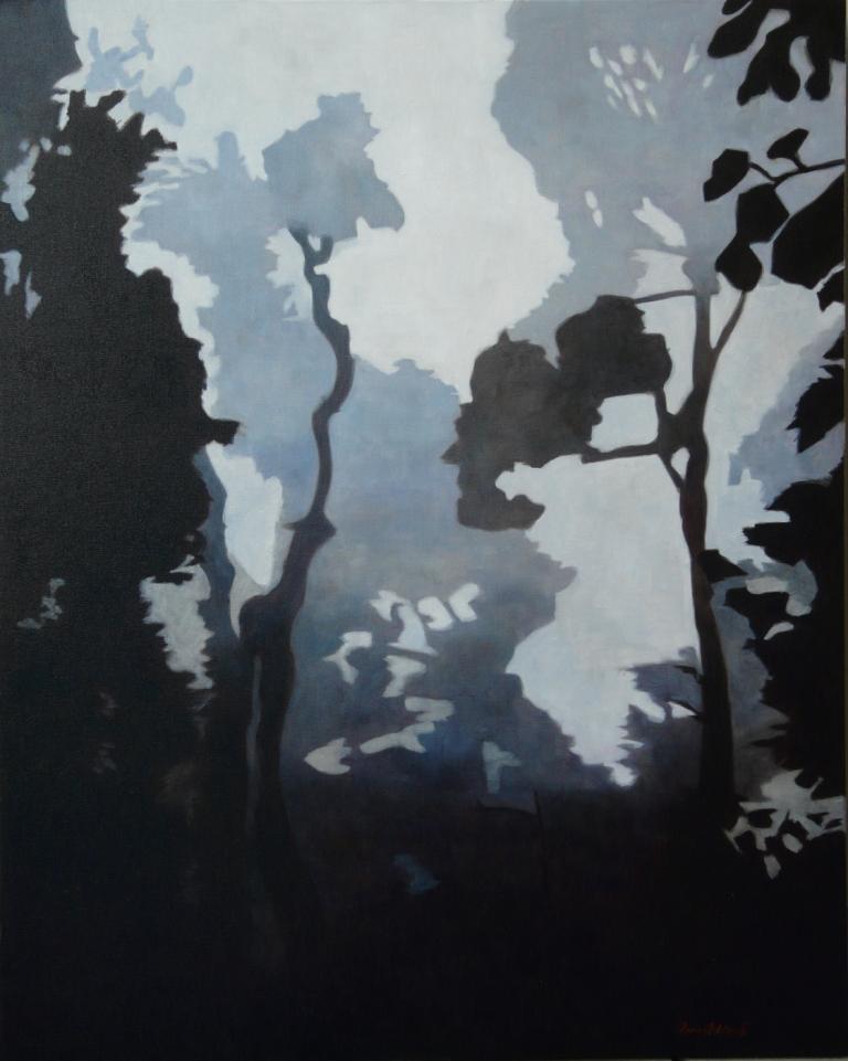 """""""Glänta"""", olja på duk, 80 x 100 cm, 2010"""