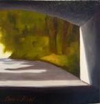 """Tunnel 2"", olja på duk, 20 x 20 cm, 2010"