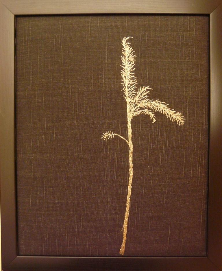 """Höststrå"", fritt broderi, 24 x 30 cm, 2010"