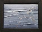 """Strå vid ån"", fritt broderi, 24×18 cm, 2010"