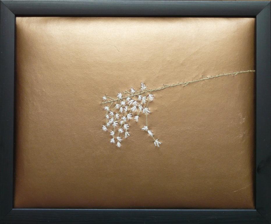 """""""Utblommad"""", fritt broderi, 24 x 30 cm, 2010"""