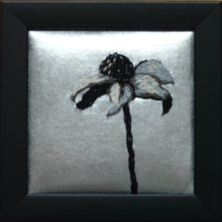"""""""Frost"""", fritt broderi, 12 x 12 cm, 2010"""