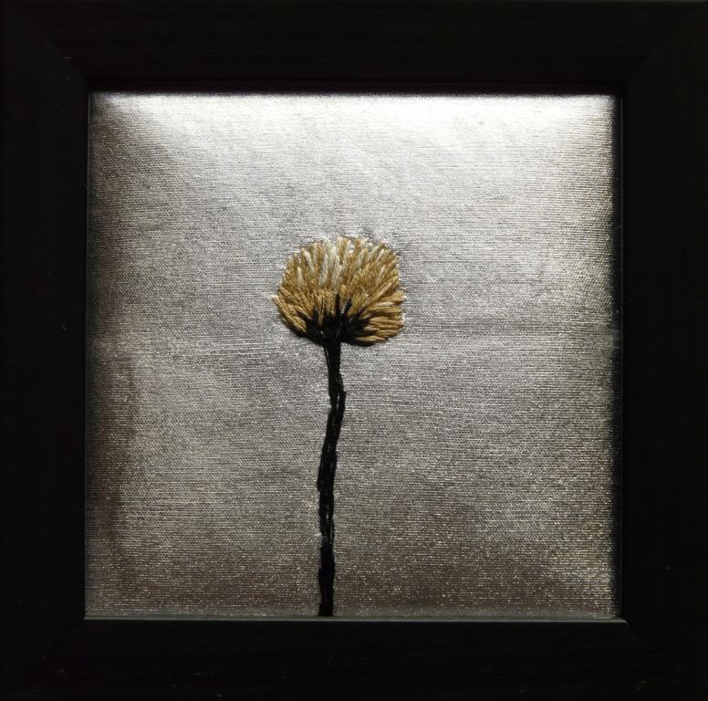 """""""Höst"""", fritt broderi 12 x 12 cm, 2010"""