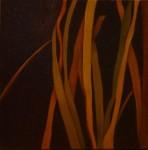 """""""Grässtrån 1"""", olja på duk 30 x30 cm, 2010"""