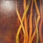 """""""Grässtrån 3"""", olja på duk 30 x30 cm, 2010"""