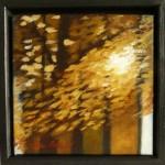 """""""Höstspegling"""", olja på duk, 20 x 20 cm, 2010"""